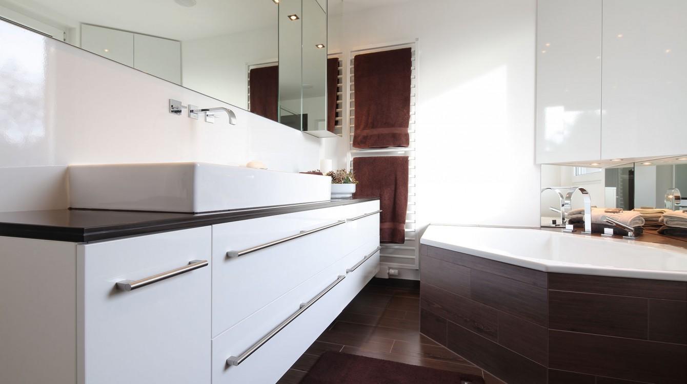 Badezimmer In Brauntönen Glaescher Design Innenausbau