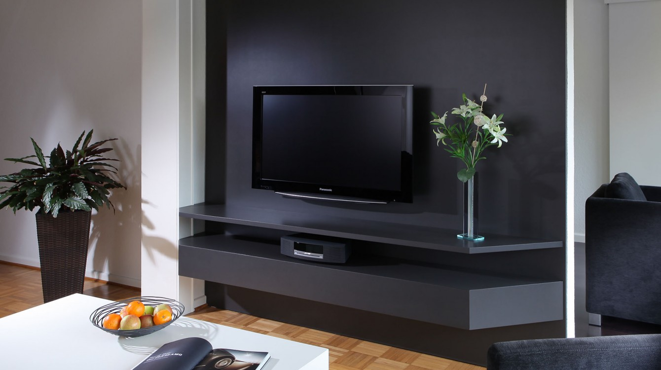 tv paneel glaescher design innenausbau raumplanung